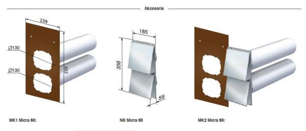 zestaw montażowy mk1 do centrali micra 60
