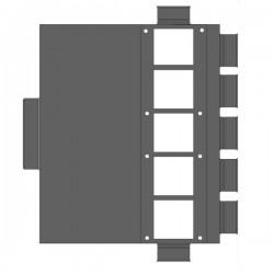 Rozdzielacz z przestawnymi panelami do przewodów Smart-Flex