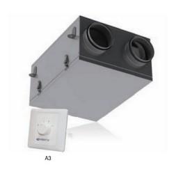 Rekuperator VUE 100 P mini A3