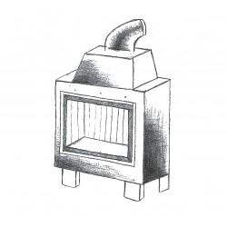 Wkład kominkowy powietrzny AMELIA EKO