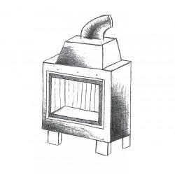 Wkład kominkowy powietrzny WK 440 kafel